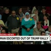 MUSLIM Woman Wearing a HIJAB Gets KICKED OUT Of Donald Trump Rally For Being MUSLIM!!